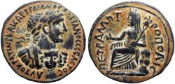 Ancient Coins - Bibilical , Decapolis. Petra. Hadrian. 117-138 AD. A remarkably well-preserved !!