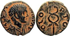 Ancient Coins - Palestine, Akko, Ptolemias , Diadumenian. As Caesar, AD 217-218.  the only example offered online.