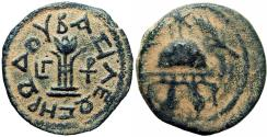 Ancient Coins - HERODIAN KINGS of JUDAEA. Herod I. 40-4 BCE. bold and centered Obv.