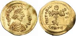 Ancient Coins -  Phocas. 602-610. AV Semissis .