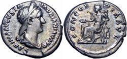 Ancient Coins - SABINA, wife of Hadrian. 117 - 136 A.D.