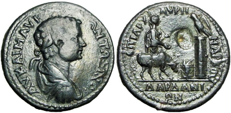 Ancient Coins - Troas, Dardanus , Elagabalus 218-222. Medallion, Unique from a very rare city.