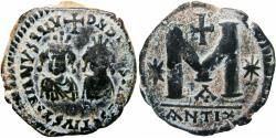 Ancient Coins - Justin I & Justinian I. 527. Æ Follis, Rare and Choice.