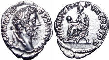 Ancient Coins - Commodus Denarius. 186 AD.