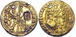 Ancient Coins - Ottoman Countermark, ITALY. Venice. Marino Grimani (1595-1605).  very rare.