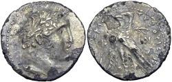 Ancient Coins - PHOENICIA, Tyre. 126/5 BC-AD 65/6. AR Half Shekel. unique date.