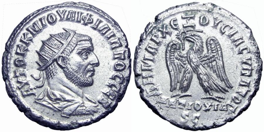 Ancient Coins - SYRIA, Seleucis and Pieria. Antioch. Philip I. 244-249 AD.