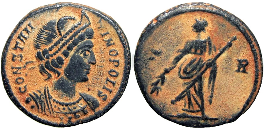 Ancient Coins - Commemorative Series. AD 330-354. Stunning for the type !!!!