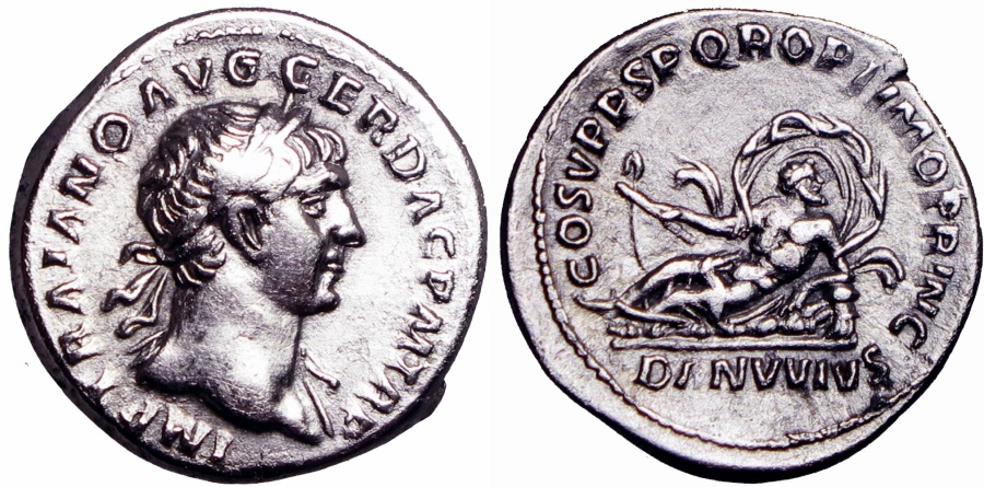 Ancient Coins - TRAJAN. 98-117 AD. Choice metal and condition !!!!