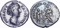 Ancient Coins - Diva Faustina Senior. Died AD 140/1.