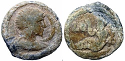 Ancient Coins - Antinous PL Tessera of Alexandria, Egypt. AD 117-138. , favorite of Hadrian (died AD 130).