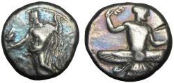 Ancient Coins - Cilicia, Mallos AR Stater. Tiribazos, Satrap of Lydia. Circa 386-380 BC.