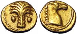 Ancient Coins - North Africa, Carthage AV 1/10 Stater. Circa 350-320 BC.