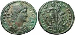 Ancient Coins - Constans Æ Centenionalis. Thessalonica, AD 348-350.