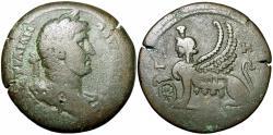 Ancient Coins - Hadrian. 117-138 AD. Bronze drachm.