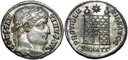 Ancient Coins - Constantine I. AD 307/310-337. Æ silvered Follis.