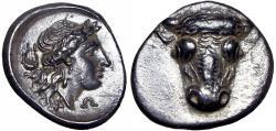 Ancient Coins - Phokis, Federal Coinage AR Triobol. Time of the Third Sacred War, circa 354-352 BC. Stunning example.