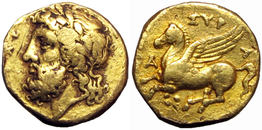 Ancient Coins - SICILY, Syracuse. Timoleon and the Third Democracy. 344-317 BC.