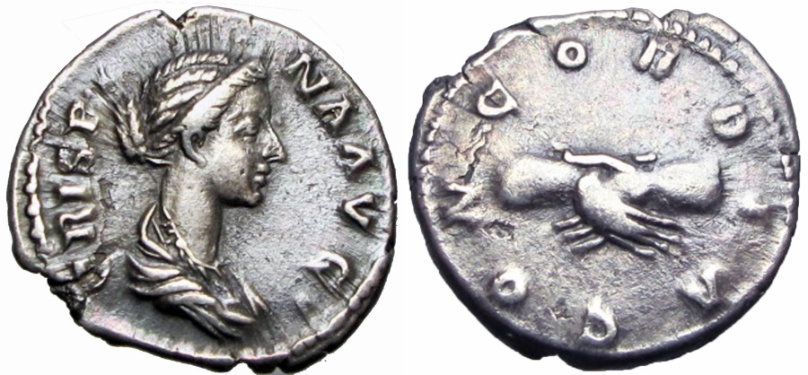 Ancient Coins -  CRISPINA. Augusta, 178-182 AD.