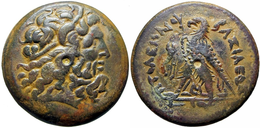 Ancient Coins - PTOLEMAIC KINGS of EGYPT. Ptolemy II Philadelphos. 285-246 BC. large coin, 41 mm, 71 gm .