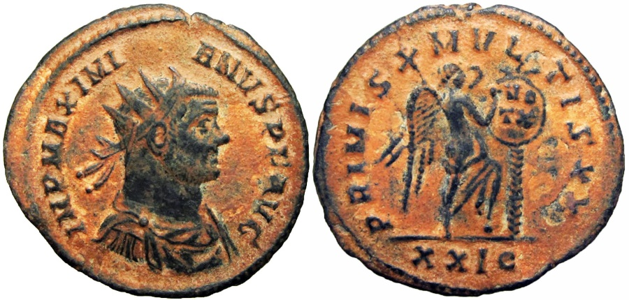 Ancient Coins - Maximianus. First reign, AD 286-305. Unlisted in RIC , Unique !!