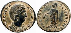 Ancient Coins - HELENA (Augusta, 324-329). Follis. Rome. very rare.