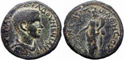 Ancient Coins - Samaria, Neapolis. Diadumenian as Caesar. 217-218 AD. Exceedingly rare.