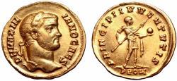 Ancient Coins - Galerius, as Caesar, AV Quinarius. Rome, AD 298-299. Ex Roma Numismatics.
