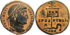 Ancient Coins - Constantine I 'the Great' Æ Nummus. Constantinople, AD 327.