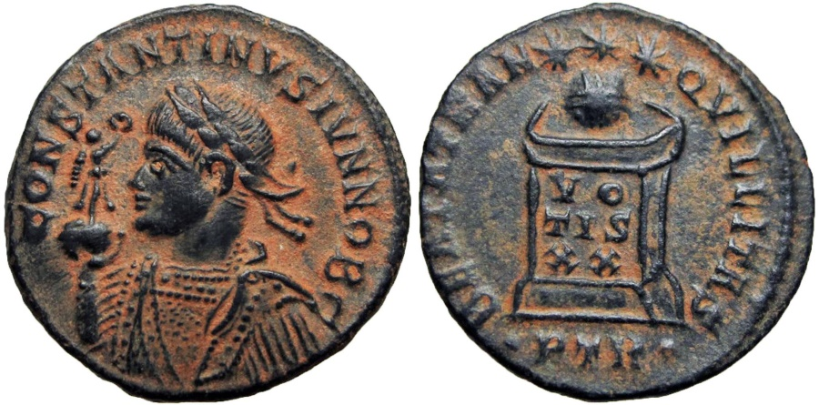 Ancient Coins - Constantine II. As Caesar, AD 316-337. Probably Unique with and unlisted in RIC , Read note.