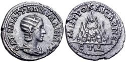 Ancient Coins - CAPPADOCIA, Caesarea-Eusebia. Tranquillina. Augusta, AD 241-244. AR Drachm