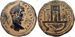 Ancient Coins - CYPRUS, Koinon of Cyprus. Caracalla. AD 198-217. Temple of Aphrodite at Paphos. stunning example !