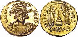 Ancient Coins - Constantine IV Pogonatus, with Heraclius and Tiberius. 668-685.