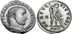 Ancient Coins - Maximinus II. AD 310-313. Farnese Hercules type.