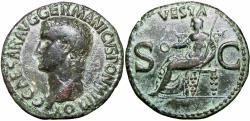 Ancient Coins - Gaius (Caligula). AD 37-41. Æ As .