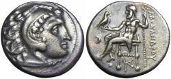 Ancient Coins - Kingdom of Macedon. Alexander III AR Drachm. Kolophon c. 310-301.