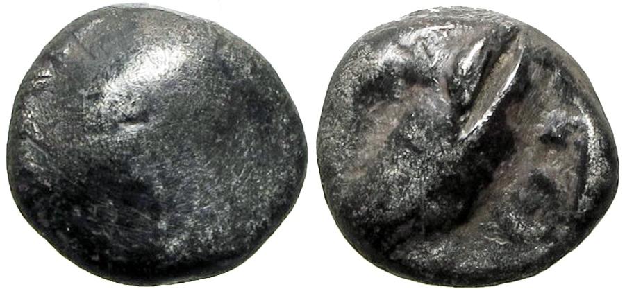 Ancient Coins - EDOM (IDUMAEA). 4th century BC. AR Quarter Shekel, Very rare.