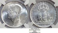 World Coins - Sweden. Gustav V. Commemorative AR 2 Kronor 1938. NGC MS63