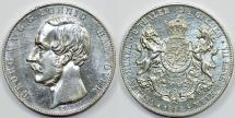World Coins - Germany: Hannover. George V. Silver 2 Thaler 1854 B (Doppeltaler). Choice AU