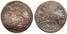 World Coins - France. Herni IIII. Bronze Jeton ND. Dedicated to Saint Justus. A French Martyr. VF+