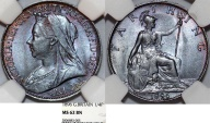 World Coins - Great Britain. Queen Victoria (1837-1901) Cu 1/4 Penny (Farthing) 1896. NGC MS62 BN