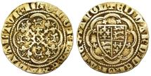 World Coins - Great Britain.Edward III. 1327-1377. Gold Quarter Noble ND. Fourth coinage, Transitional Treaty period. About VF