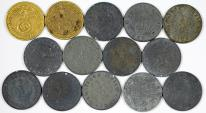World Coins - Germany. III Reich. Lot of 14 coins. 10 Pfennig 1937-1944 . about VF-VF+