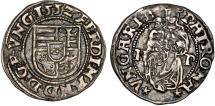 World Coins - H.R.E. Transylvania. Archeduke Ferdinand I (1526-1564) RARE Silver Denar 1552. XF