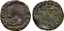 World Coins - COUNTY OF BURGUNDY - PHILIPPE II OF SPAIN (1555-1598). AE Carolus. ND. Good