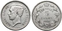 World Coins - Belgium. Kingdom. Albert I. 1909-1934. Ni 5 Francs 1930. XF