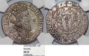World Coins - Poland. City of Danzig. Sigismund III (1587-1632). Silver 1/4 Taler 1624. NGC AU55, beauty
