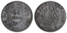World Coins - Argentina. Buenos Aires. CU 1 Real 1840. Fine+