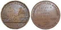 World Coins - France. Luis XVI. Copper Treasury token 1767. Nice XF+