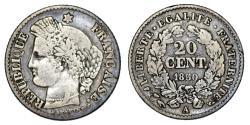 World Coins - France. AR 20 Centimes 1850A. Choice VF